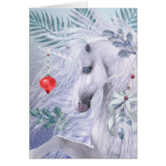 Christmas Unicorn Deluxe Greeting Card