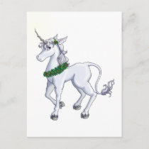 Christmas Unicorn Holiday Postcard