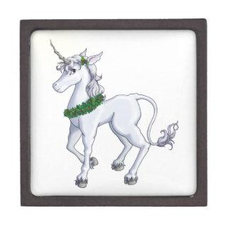Christmas Unicorn Keepsake Box