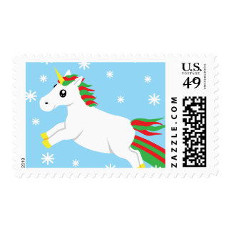 Christmas Unicorn Mail Christmas Stamp