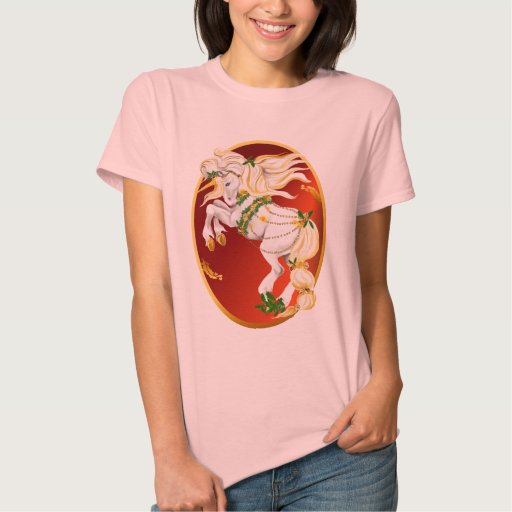 Christmas Unicorn Oval Shirts