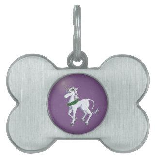 Christmas Unicorn Pet Name Tag