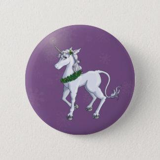 Christmas Unicorn Pinback Button