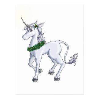 Christmas Unicorn Postcard