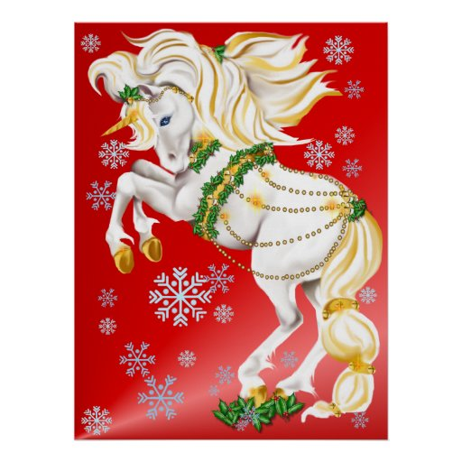 Christmas Unicorn poster
