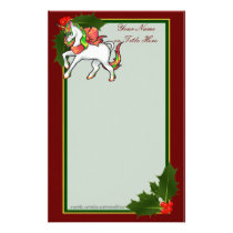 Christmas Unicorn Stationery