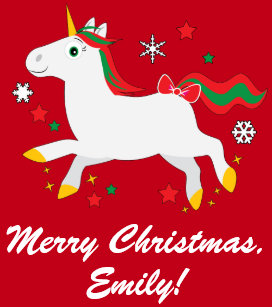 christmas unicorn with stars name customizable wrapping paper - Christmas Unicorn