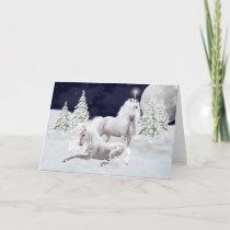 Christmas Unicorns Holiday Card
