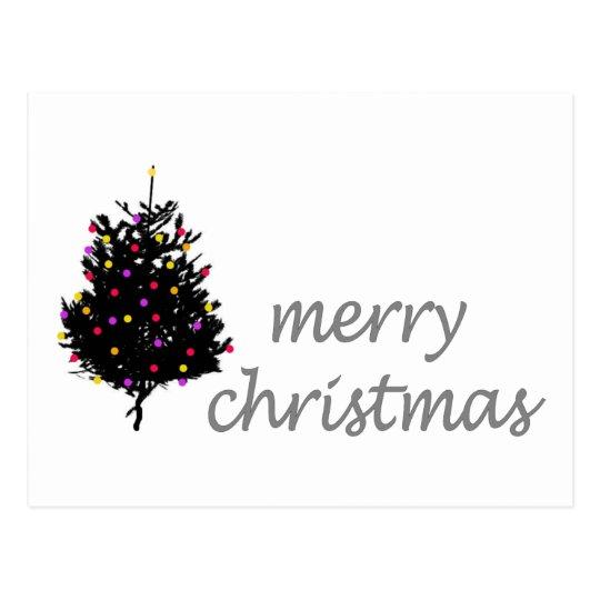 Christmas Unique design! Cute Christmas Tree Postcard