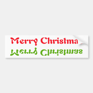 Christmas Up & side down Bumper Stickers