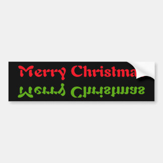 Christmas Up & side down - Customized Bumper Sticker