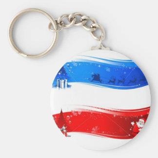 Christmas USA Keychain