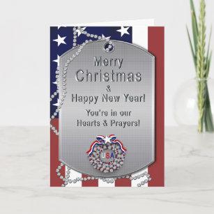 Military christmas cards zazzle christmas usa military dog tagswreath holiday card m4hsunfo