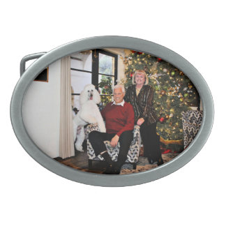 Christmas - Valjean - Poodle Belt Buckle