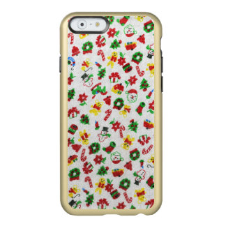 Christmas Variety of Doodles Faux-Fabric Incipio Feather Shine iPhone 6 Case