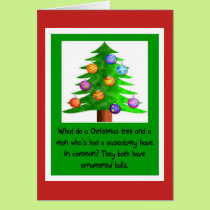Christmas Vasectomy Balls Card
