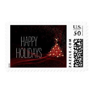 Christmas vector tree postage