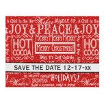 Christmas Verses Save the Date Postcard