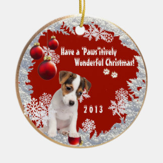 Christmas Version Two Featuring This Jack Russell Ornaments