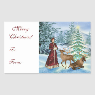 Christmas Victorian Gift Tag Stickers