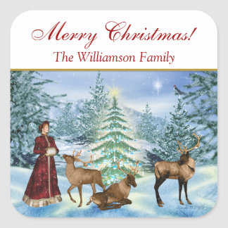 Christmas Victorian Personalized Gift Stickers