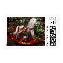 Christmas Victorian Rocking Horse Postage