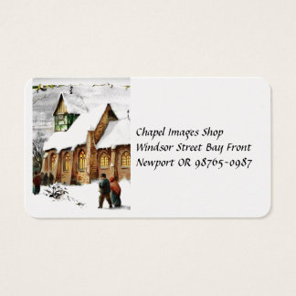 Christmas Village Church Business Card