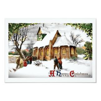 Christmas Village Church Card