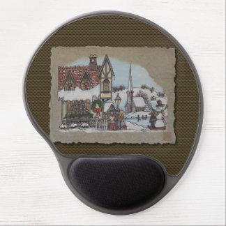 Christmas Village Gel Mouse Pad