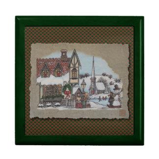 Christmas Village Jewelry Box