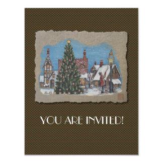 Christmas Village Lamplighter Card