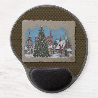Christmas Village Lamplighter Gel Mouse Pad