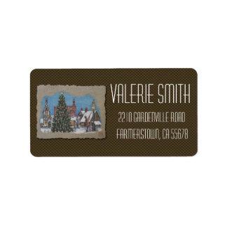 Christmas Village Lamplighter Label