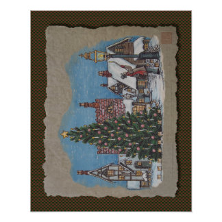 Christmas Village Lamplighter Posters