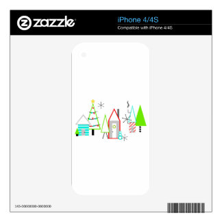 christmas village mid century modern decals for the iPhone 4S