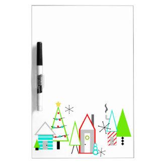 christmas village mid century modern Dry-Erase board