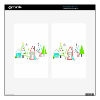 christmas village mid century modern kindle fire decals