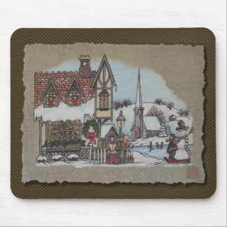Christmas Village Mouse Pad