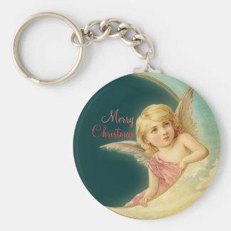 Christmas Vintage Angel CC0254 Button Keychain