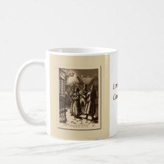 Christmas Vintage Carol Singers, Musicians Cup Mugs