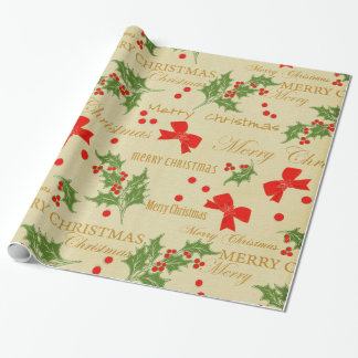 Christmas vintage gift wrapping paper