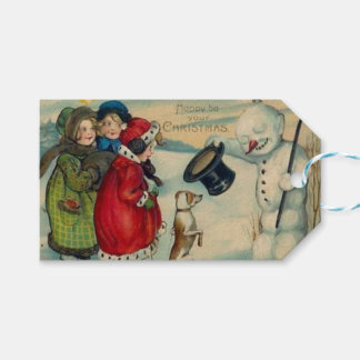 Christmas vintage Holiday Gift Tag