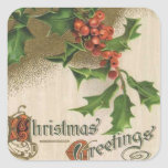 "Christmas Vintage Holiday Sticker<br><div class=""desc"">public domain</div>"