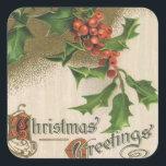 """Christmas Vintage Holiday Sticker<br><div class=""""desc"""">public domain</div>"""