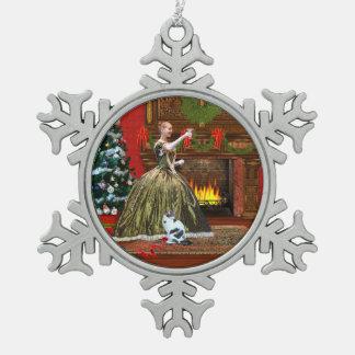 Christmas, Vintage Home, Holiday Toast, 2013 Snowflake Pewter Christmas Ornament