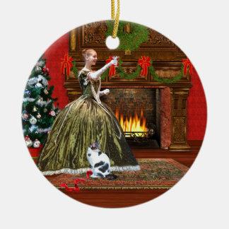 Christmas, Vintage Home, Holiday Toast Ceramic Ornament