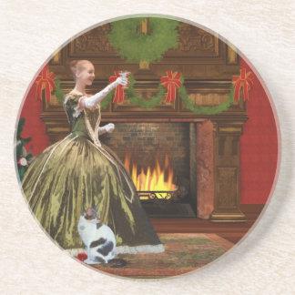 Christmas, Vintage Home, Holiday Toast Coaster