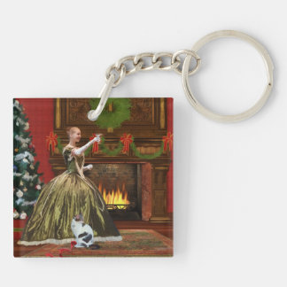 Christmas, Vintage Home, Holiday Toast Keychain