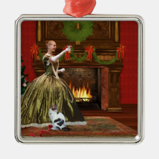 Christmas, Vintage Home, Holiday Toast Metal Ornament