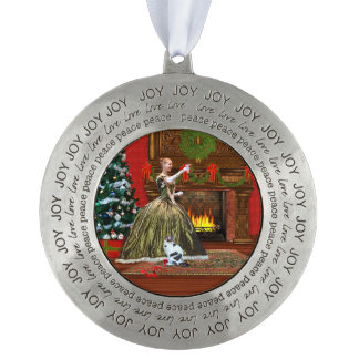 Christmas, Vintage Home, Holiday Toast Pewter Ornament